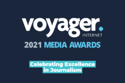 2021 Voyager Media Awards Logo